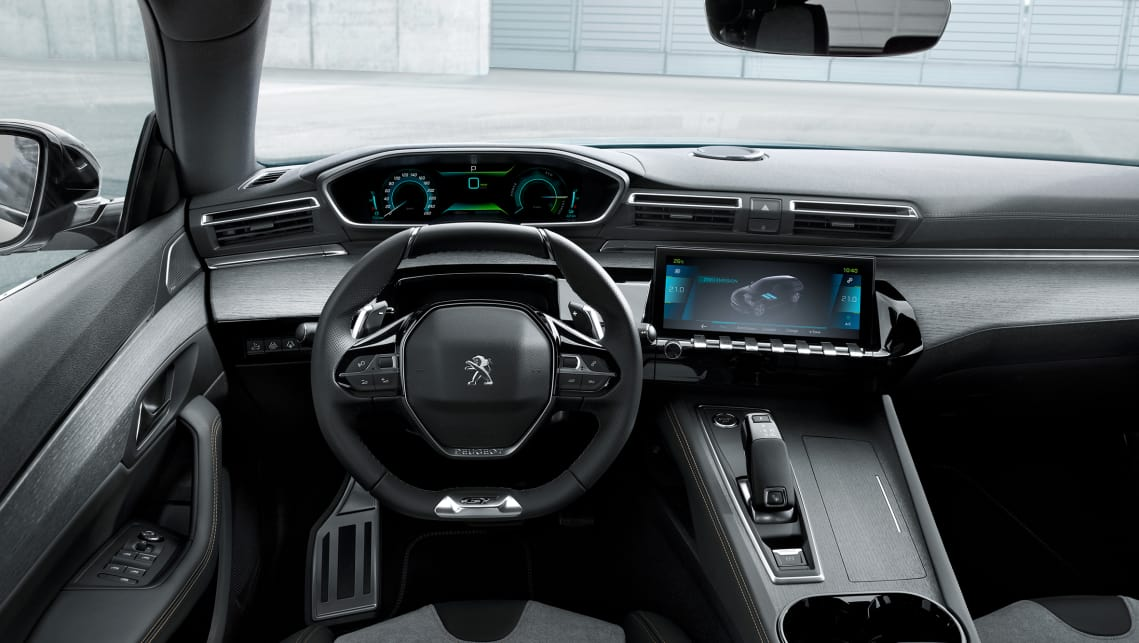 Peugeot has outfitted the three models with its latest 'i-Cockpit' dashboard system that displays various eco functions.