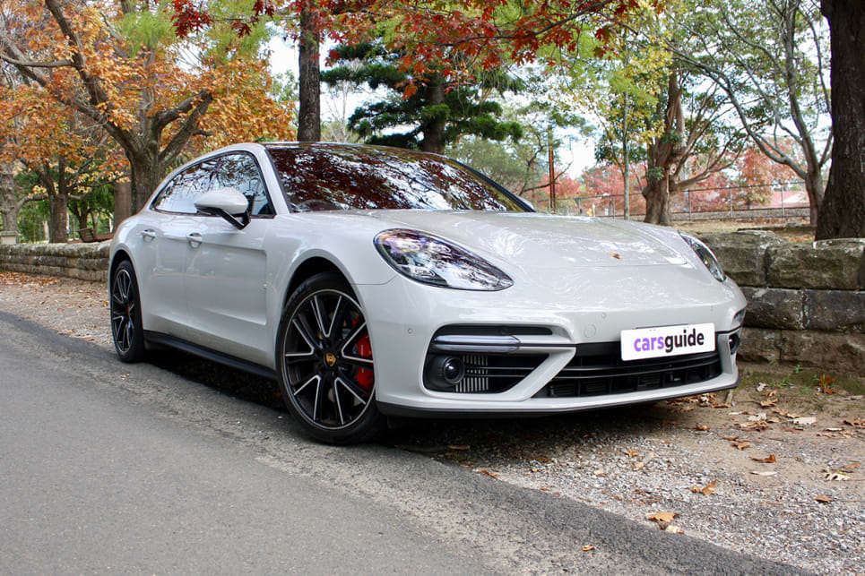 The Porsche Panamera Sport Turismo range consists of five variants, including this second-from-top-spec Turbo model. (image: Matt Campbell)