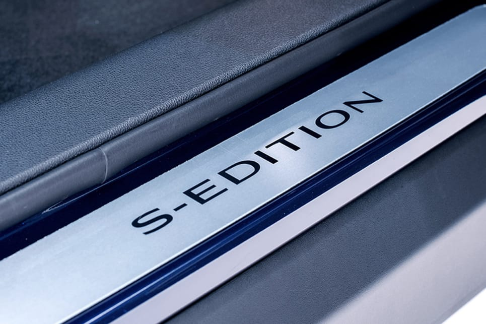 The SUV is exclusively available with a 4x2 drivetrain and includes S-Edition sill plates.