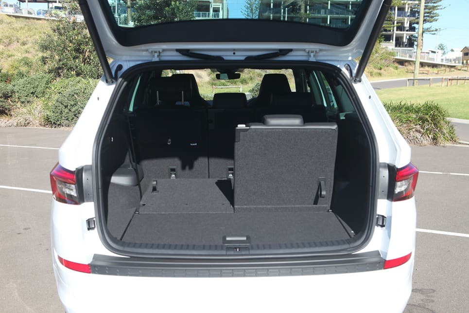 Storage space is on the right side of handy: 270 litres (in rear cargo area, with all rows up).