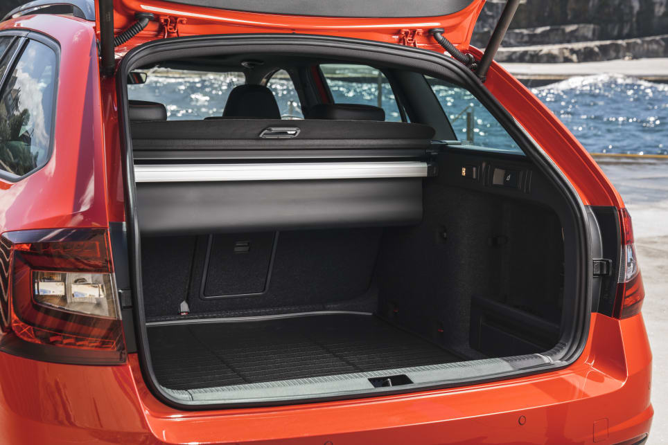 That boot space is massive, with 588L with the seats up, and 1718L with the seats down in the wagon.
