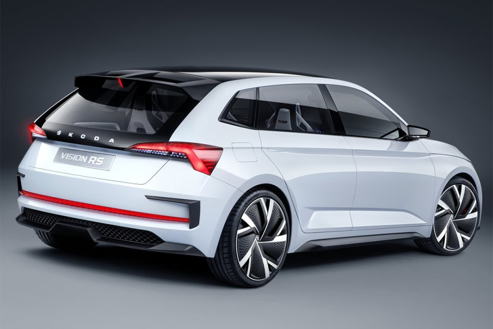 The compact Scala hatch, previewed by the Vision RS Concept is  due here in the first half of 2020.