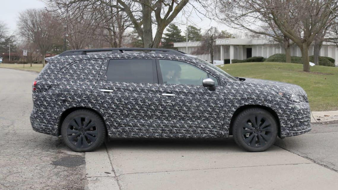 2018 Subaru Ascent: New Seven-seat SUV, Specs, Price >> 2018 Subaru Ascent Suv Spy Pics Car News Carsguide