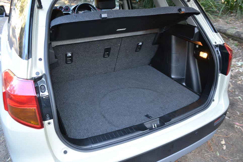The Vitara's boot has a 375-litre luggage capacity.
