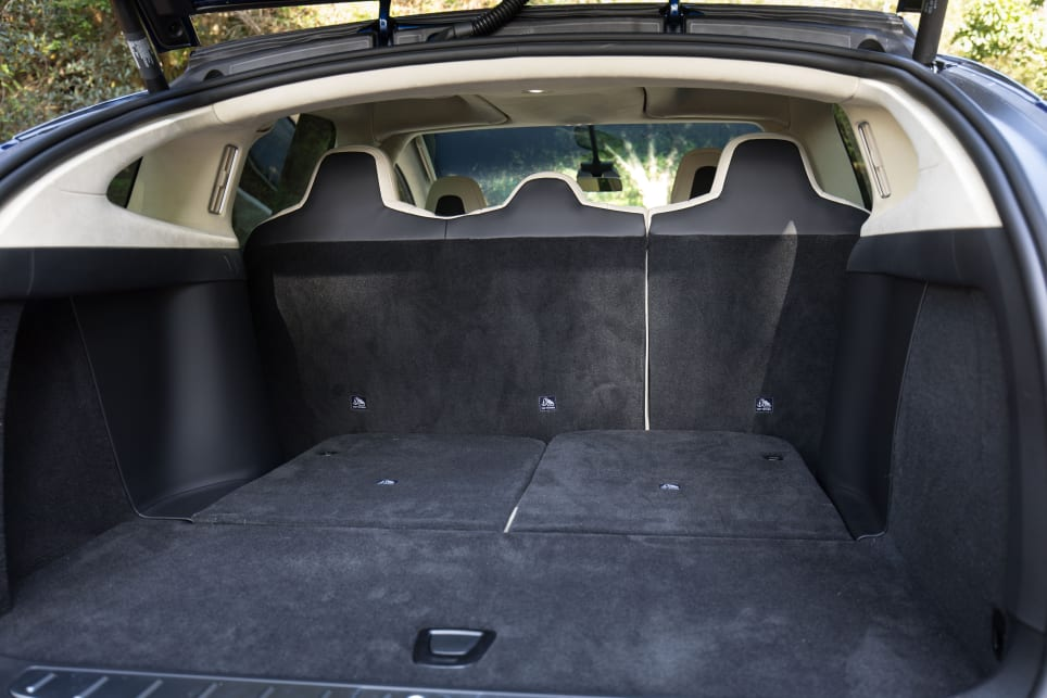 With the third row down the boot is large enough to fit whatever you need for the children.