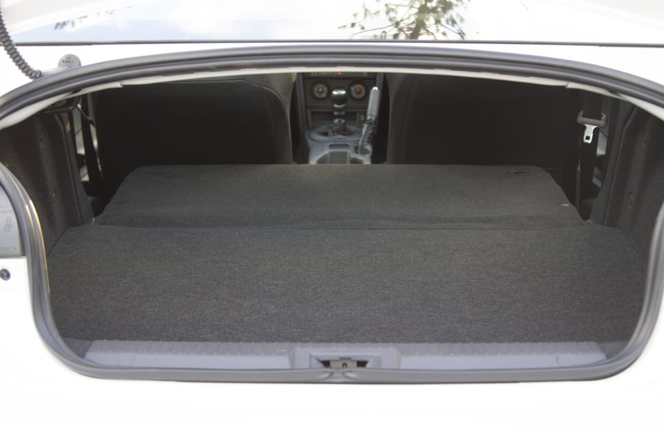 Boot space isn't terrible at 223 litres and if you fold down the rear seats, you've capacity for a set of four wheels and tyres.