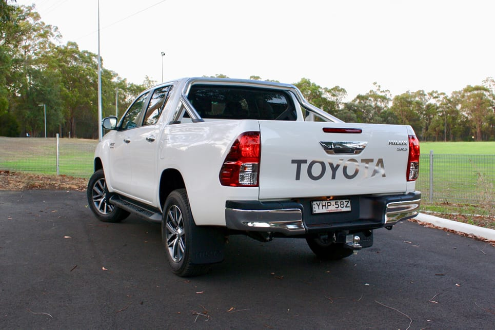 You'll find side steps on models from SR up. (2018 Toyota HiLux SR5 model shown)