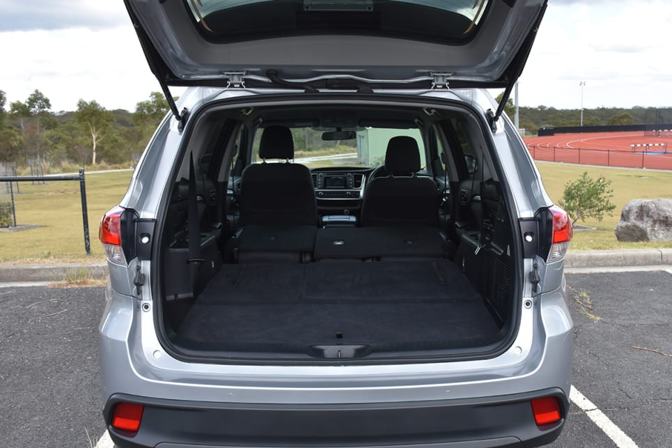 Toyota is the worst with five seats in place (529L) but ranks in the middle when it comes to seven-seats-up space (195L).  (image credit: Thomas White)