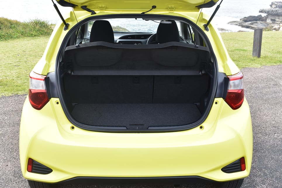 Boot space is rated at 286 litres, with the seats up. (image credit: Mitchell Tulk)