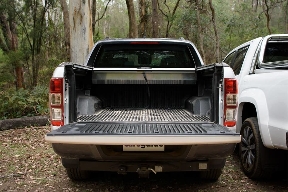 In the Ranger, the tub is 1549mm long, 1560mm wide (and 1139mm between the wheel-arches), and 511mm deep.