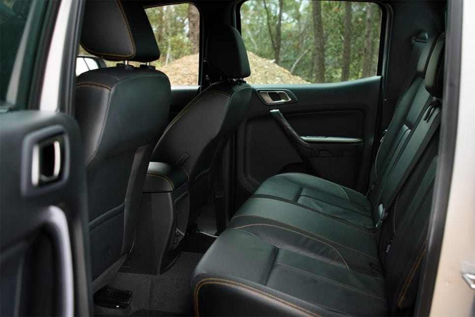 In the back of the Ranger there is about an inch of extra legroom, which makes a difference if you're hauling around tall teens or workmates.