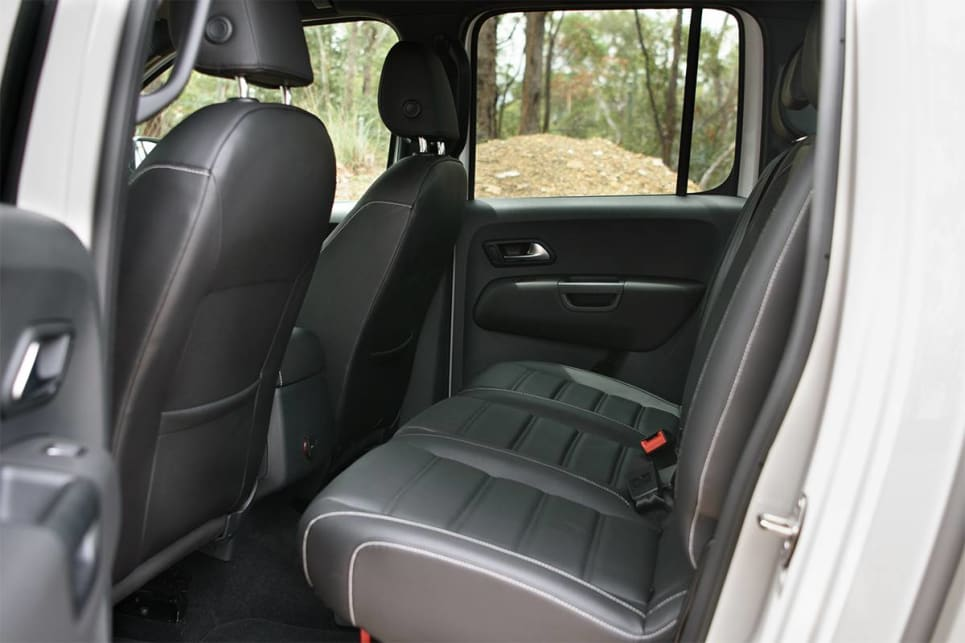 The space in the Amarok feels more generous, with its much wider cabin providing a feeling of airiness to occupants.