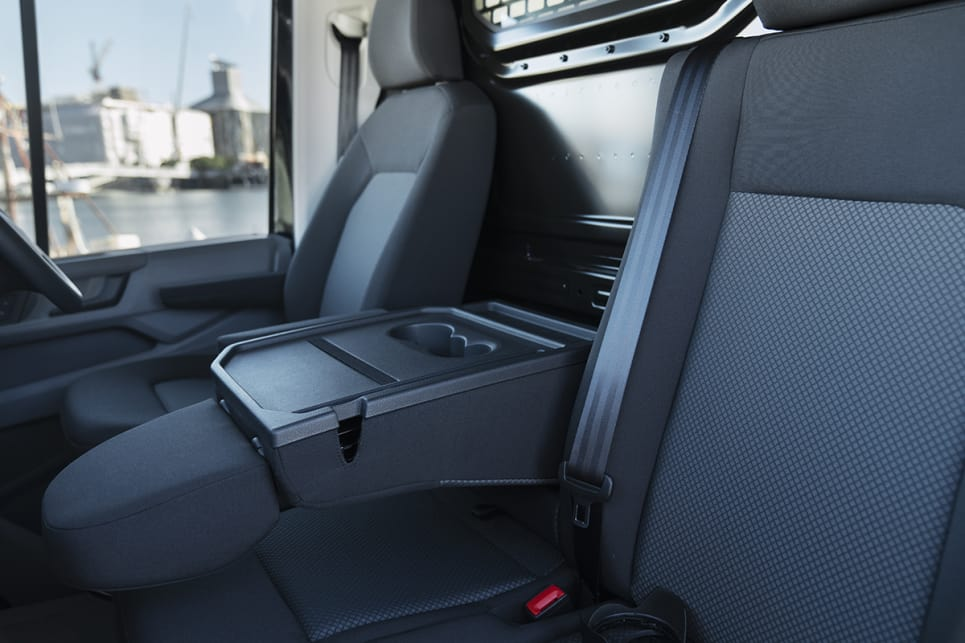 The interior is festooned with storage compartments small and large right across the dash and through the cabin.