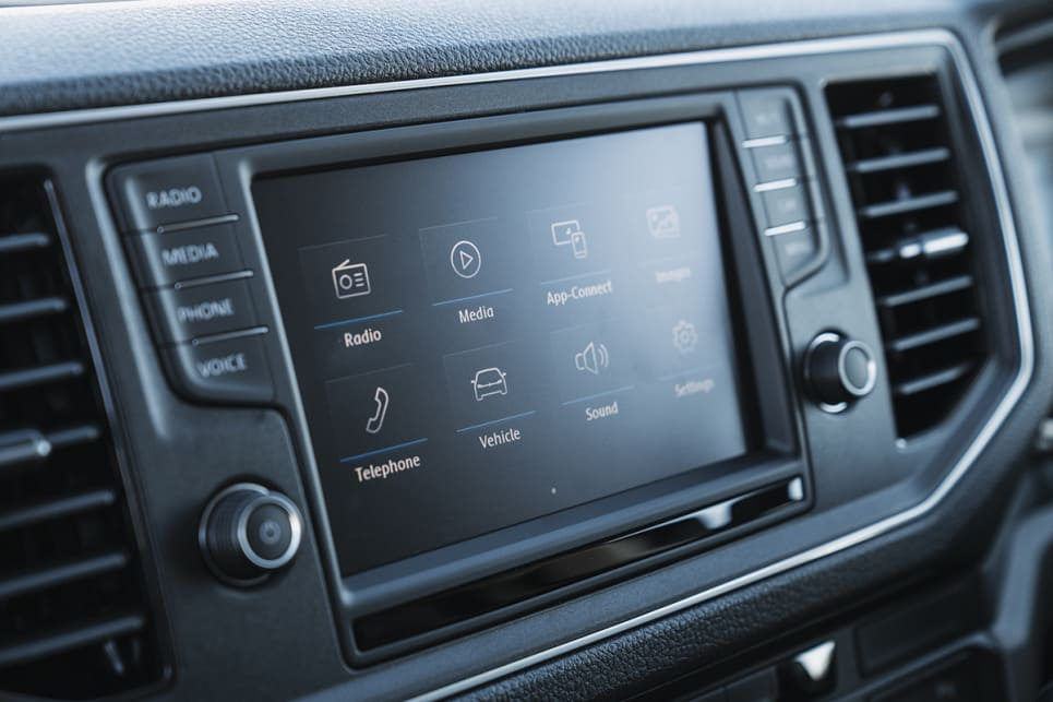 An 8.0-inch multimedia system has Apple CarPlay or Android Auto as standard.