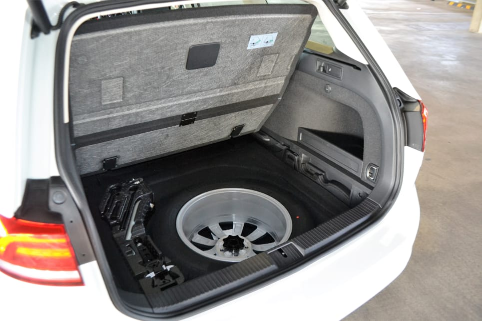 We're happy to report that the 132TSI Comfortline comes standard with a full-sized spare wheel.
