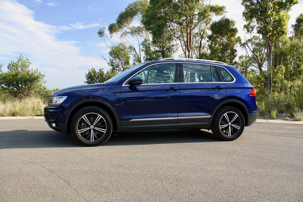 The Tiguan Adventure model tested here looks a little different to the regular, run-of-the-mill Tiguan Comfortline on which it's based.