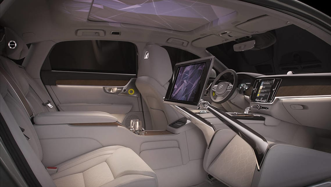 The visual element casts various designs across the car's ceiling. (image credit: GoAutoMedia)