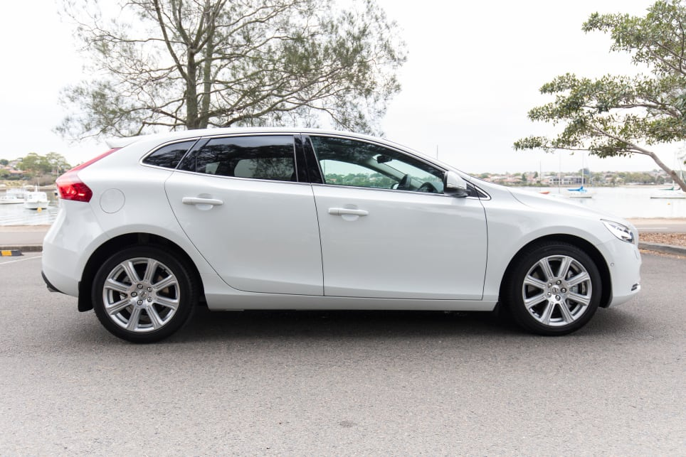 The Volvo V40 in the mid-range Inscription grade with the T4 engine lists for $43,990. (image credit: Richard Berry)
