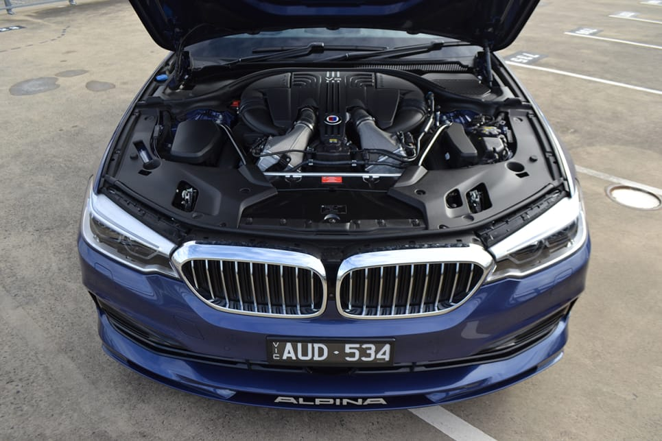 The Alpina B5 uses the same 4.4-litre V8 engine found in the BMW M5.