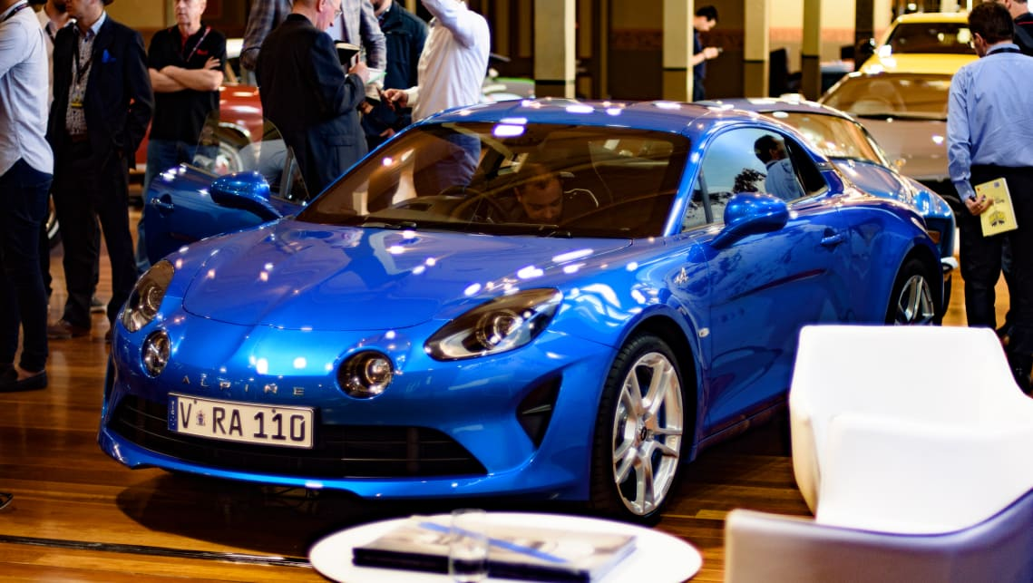 Alpine has officially launched its A110 sports coupe at Motorclassica in Melbourne. (image credit: Tom White)