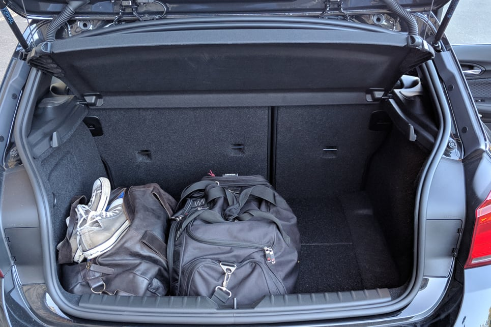 With the seats up, the BMW has 360 litres of boot space. (image credit: Dan Pugh)