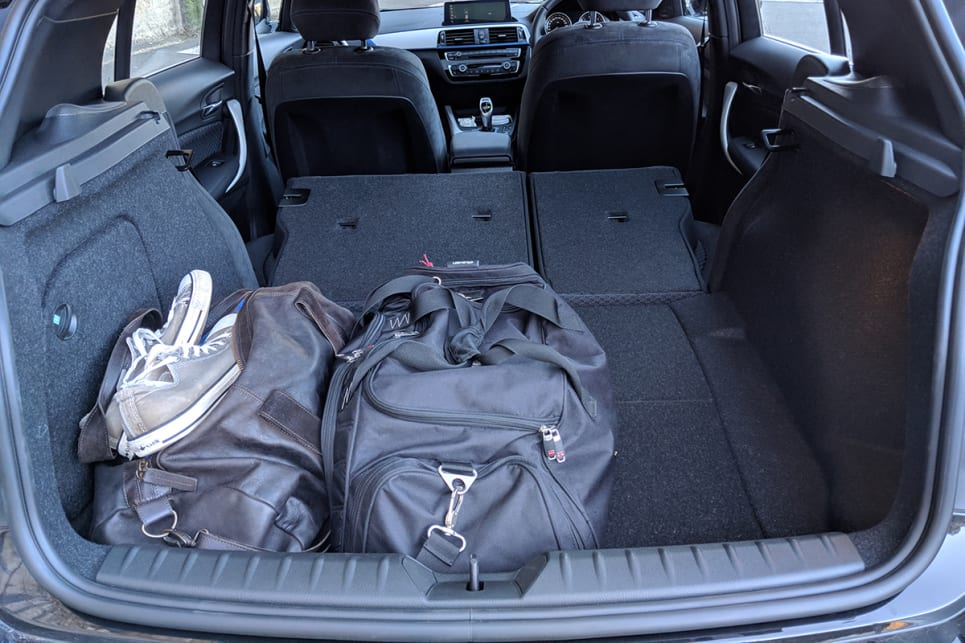 The 60/40 split rear seats fold almost flat to provide a generous 1200 litres of space. (image credit: Dan Pugh)