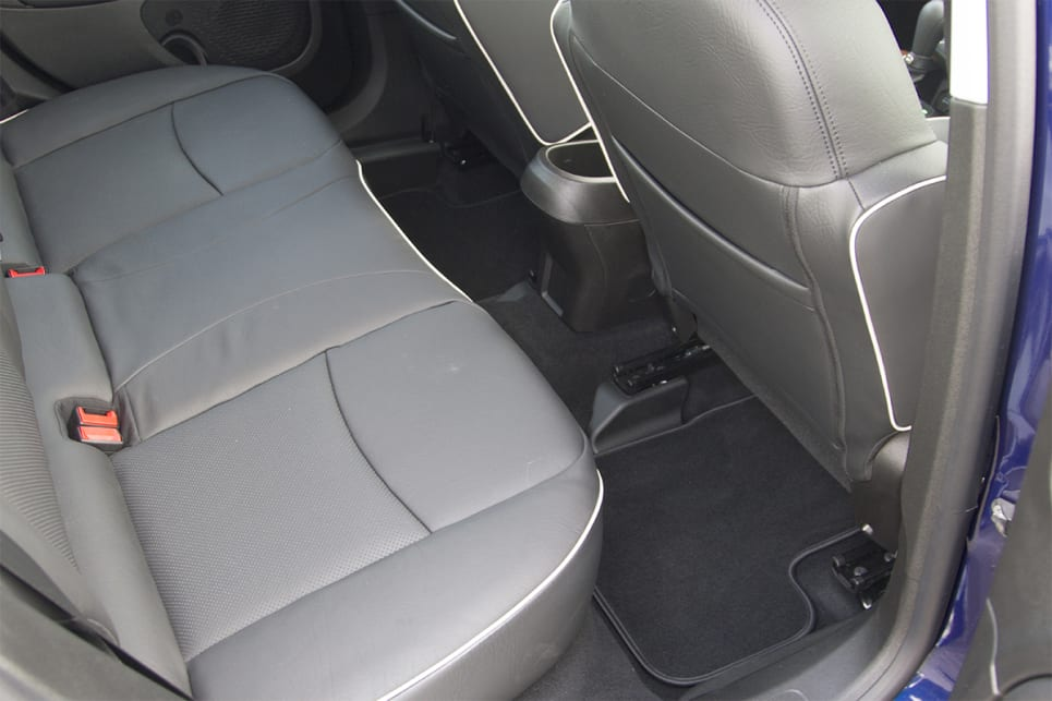 Legroom works out okay, with rear seat dwellers able to push their feet under the front seat. (image credit: Peter Anderson)