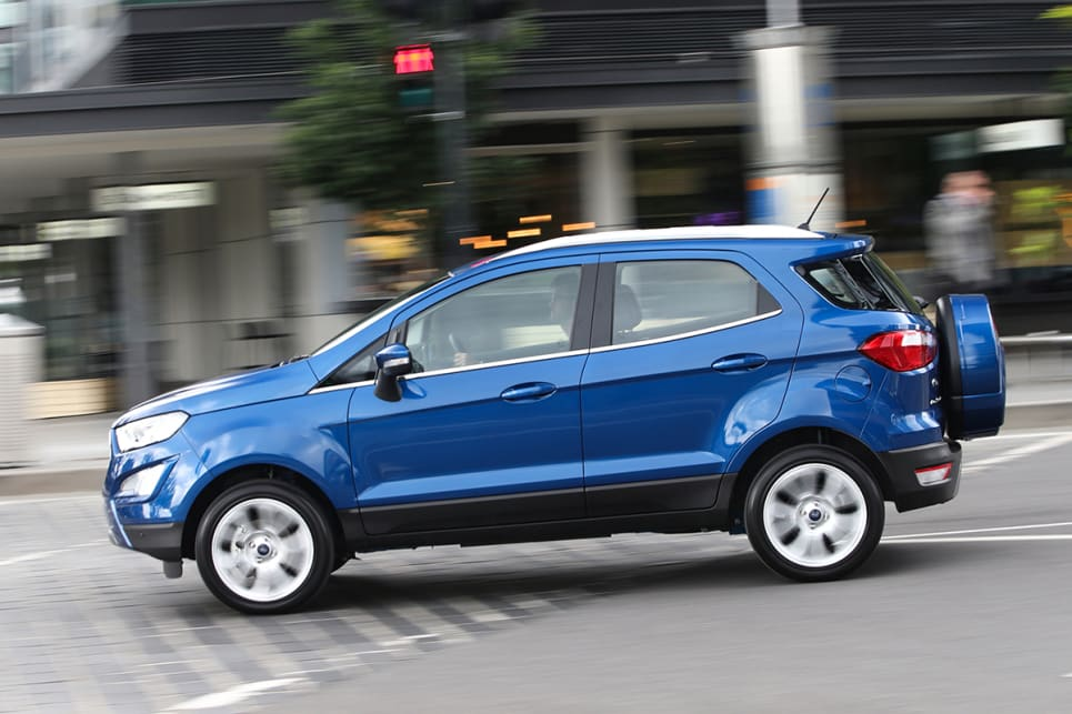Ford has a knack when it comes to making its SUVs drive like smaller cars. (2018 Ford Ecosport Titanium shown)