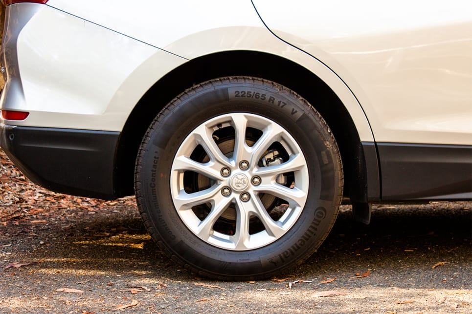 The Equinox comes with 17-inch alloy wheels.