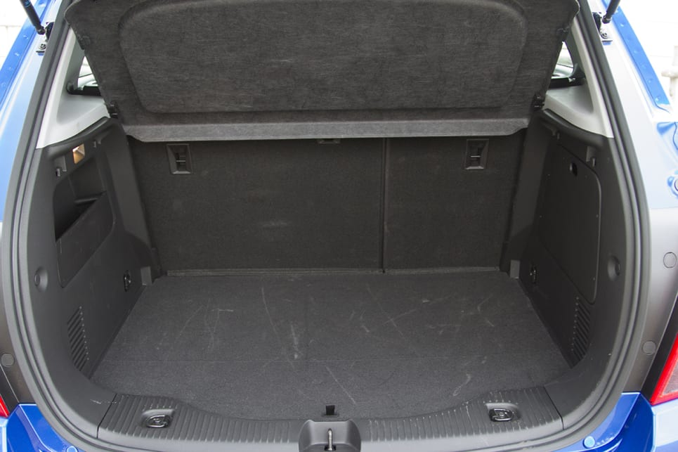 The Trax has 356 litres of boot space with the rear seats up. (2018 Holden Trax LT model shown)