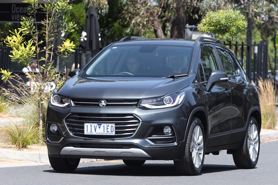 The MY17 styling update is carried forward unchanged into the MY18 Trax. (2018 Holden Trax LTZ shown)