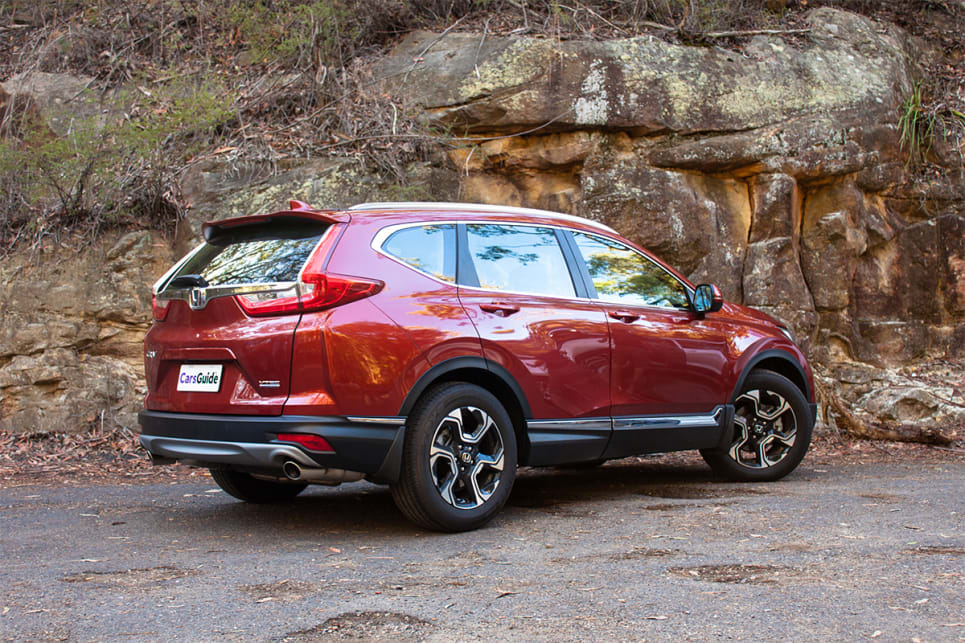The CR-V remains fairly true to its predecessor, but the rear-end leaves a little to be desired.