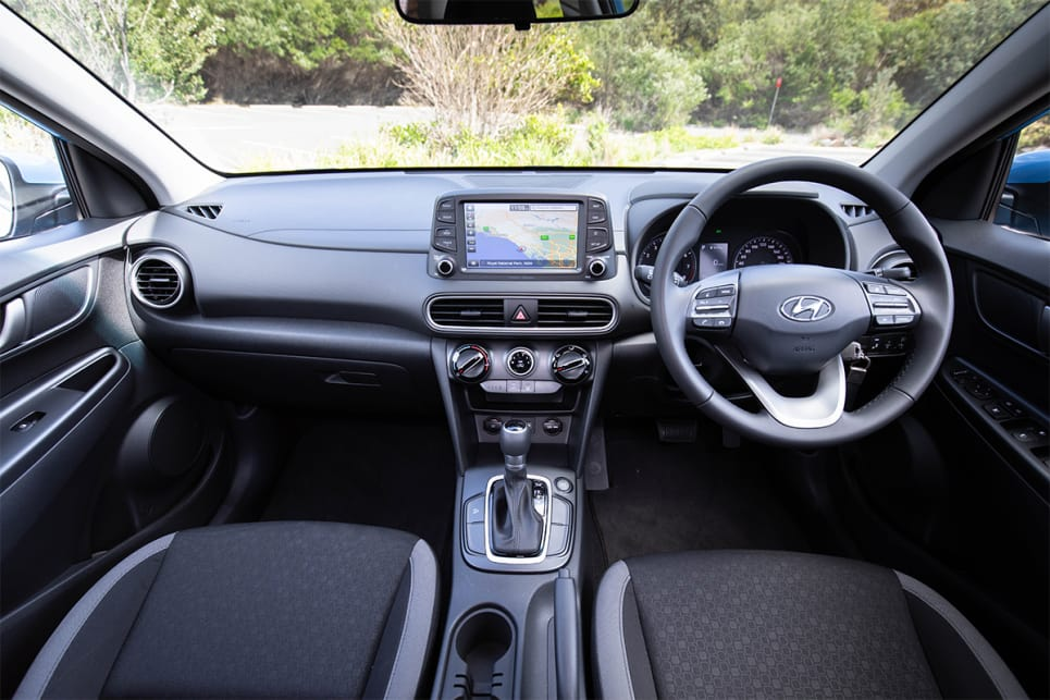The Hyundai is quite plain in terms of its cabin design. (image credit: Dean McCartney)