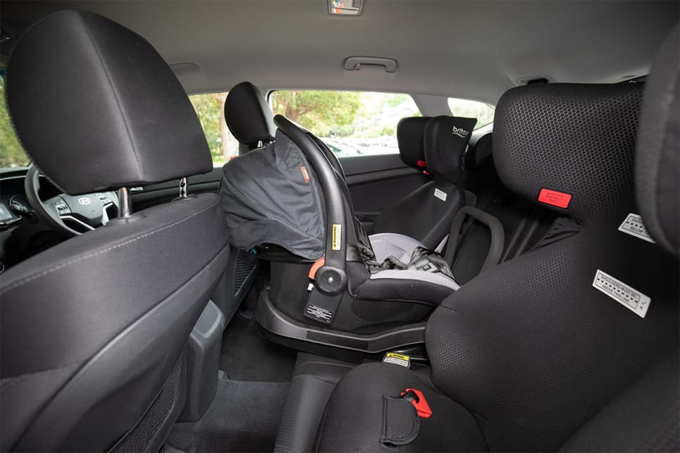 In the back are two ISOFIX points and three top tether points for children's car seats. (image credit: Dean McCartney)