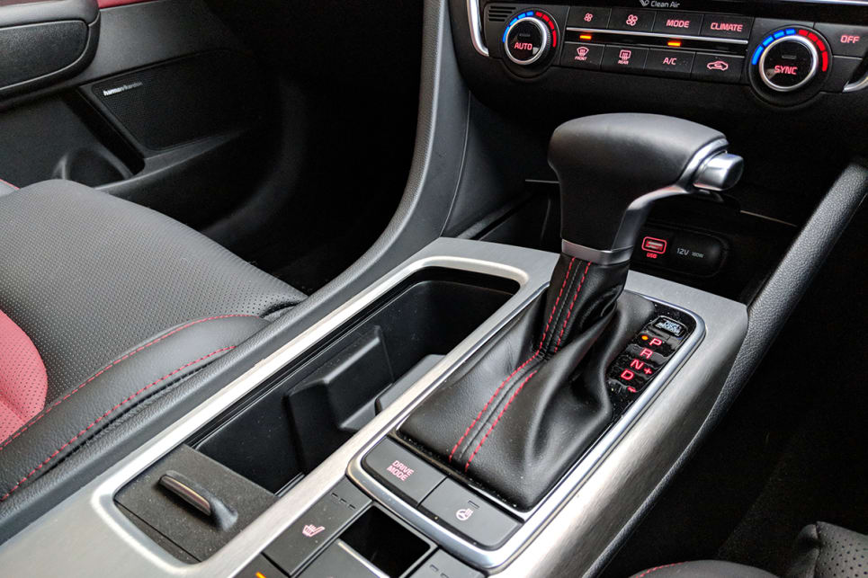The GT has a six-speed automatic transmission.