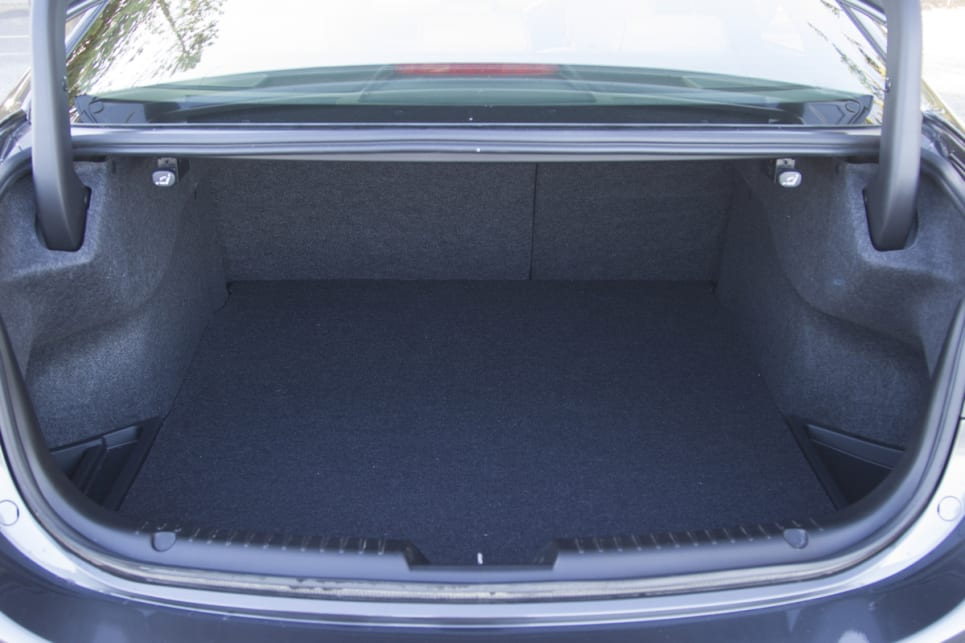 The sedan has 474 litres of boot space. (image credit: Peter Anderson)