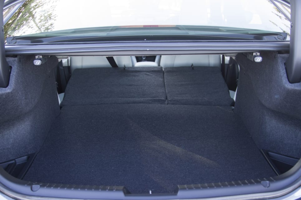 Boot space can be increased by folding the rear seats down. (image credit: Peter Anderson)