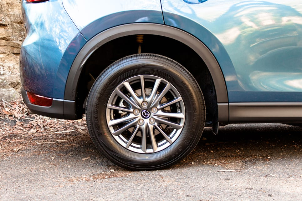 The CX-5 also comes with 17-inch alloys.