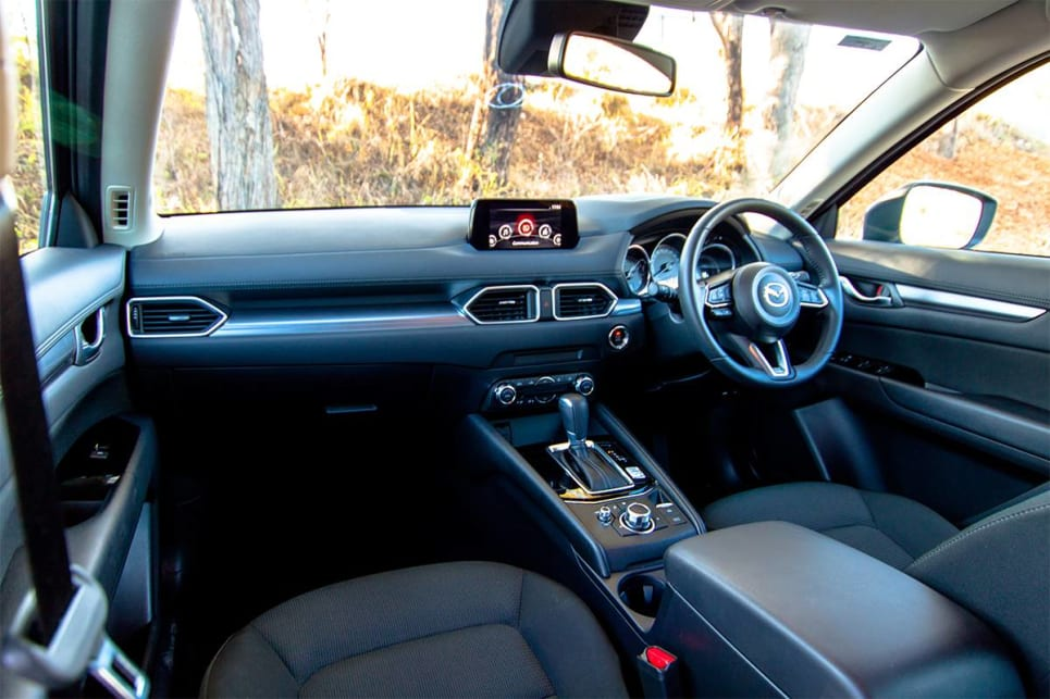 The materials used in the CX-5 feel like you're sitting in a $50k SUV, not one that costs less than $35k.
