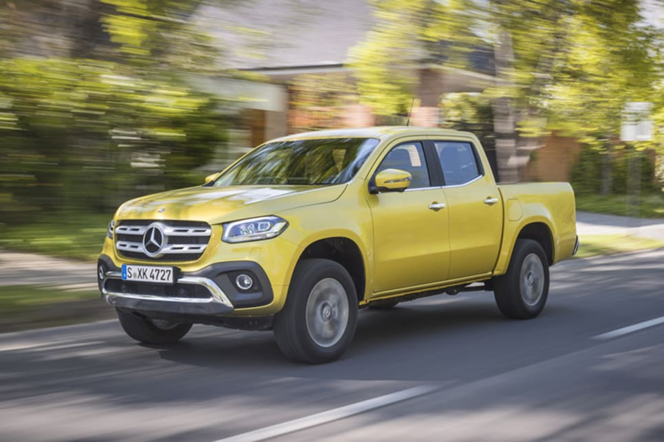A 190kW/550Nm 3.0-litre turbo-diesel V6 engine, dubbed X350d, will join the X-Class range in middle of next year.
