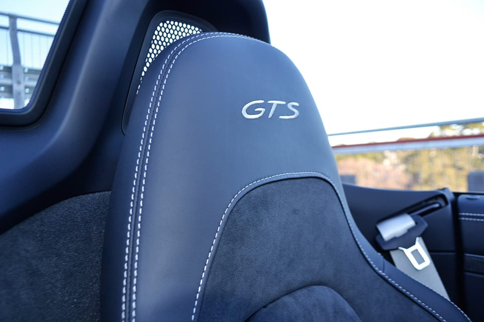 The heated sports seats with GTS embroidered logo.