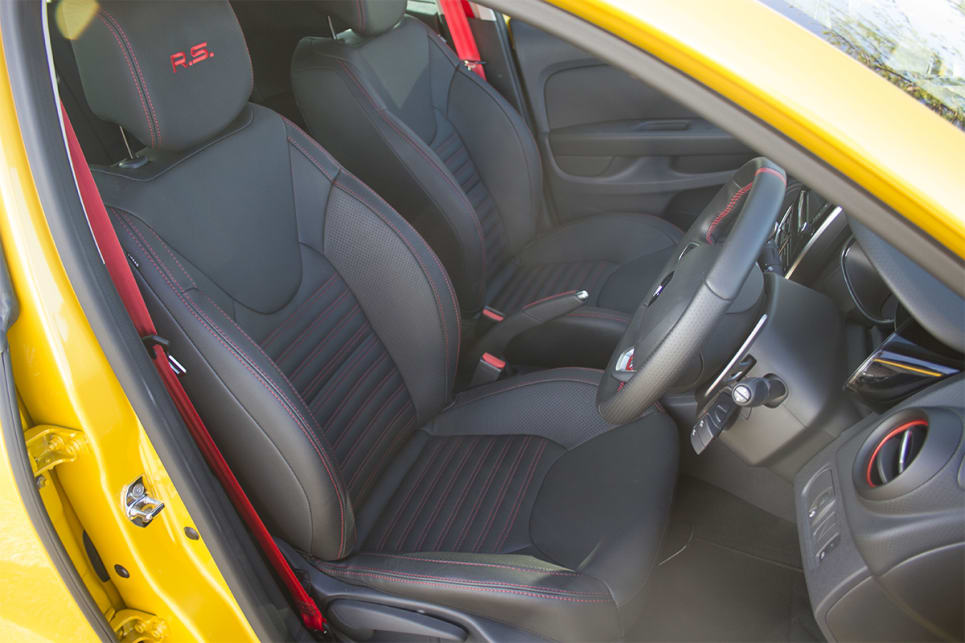 The Clio's interior is certainly snug. (image credit: Peter Anderson)