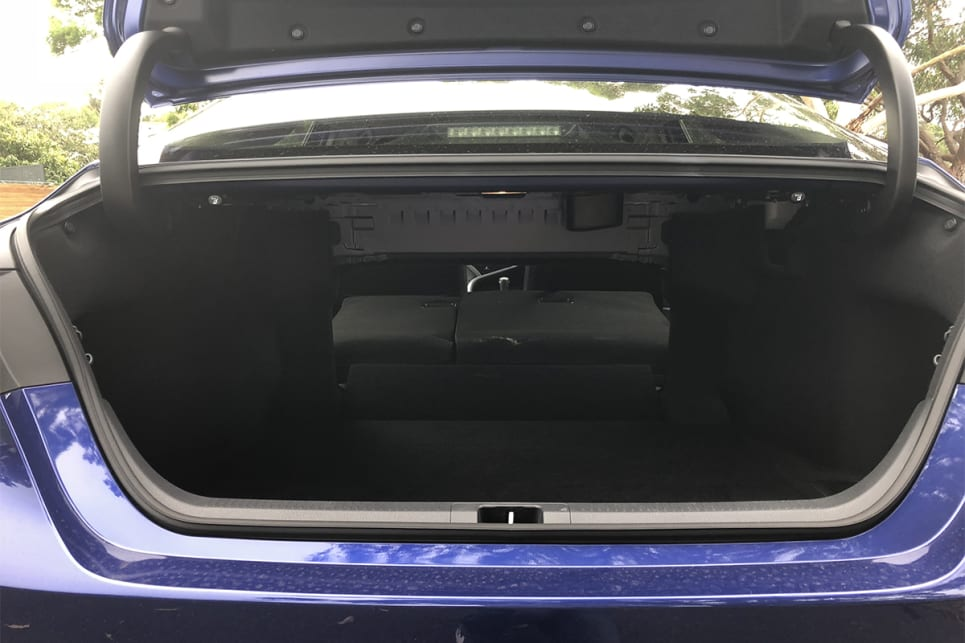 The hybrid batteries have been moved from the boot to under the rear seat, where they no longer cut into storage space. (image credit: Andrew Chesterton)