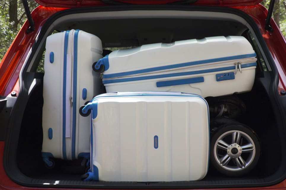 The Tiguan managed to do a fine job of swallowing our luggage, if not quite as good as the Holden.