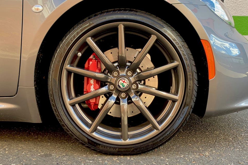 The standard 4C wears 17-inch wheels at the front and 18-inch alloys at the rear.