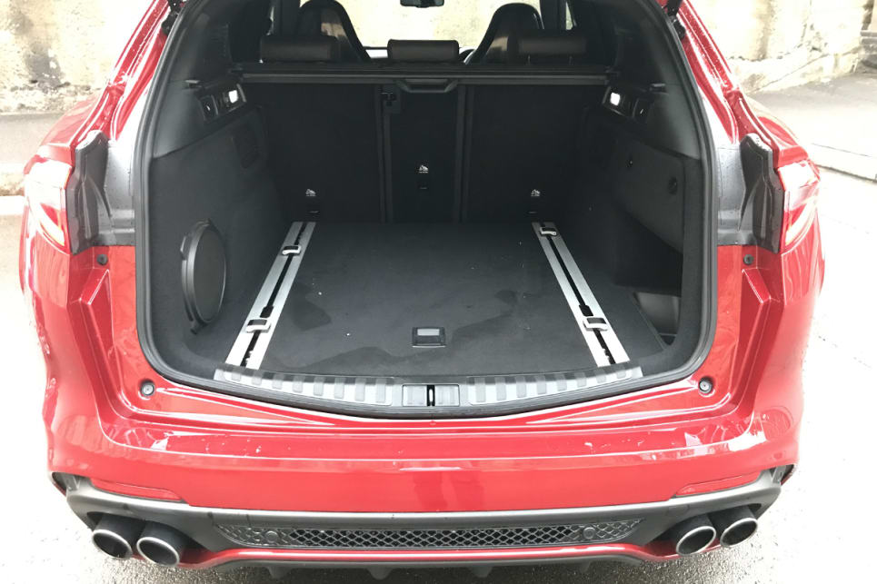 The Alfa claims 525 litres of boot space.