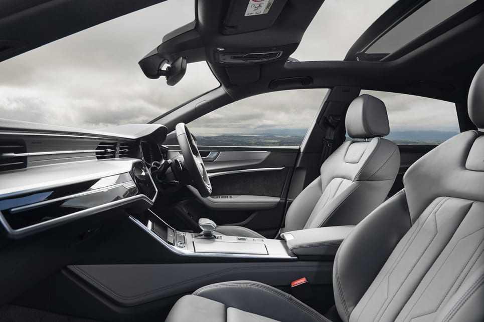The A7's interior offers beautiful textile finishes and quality trims.