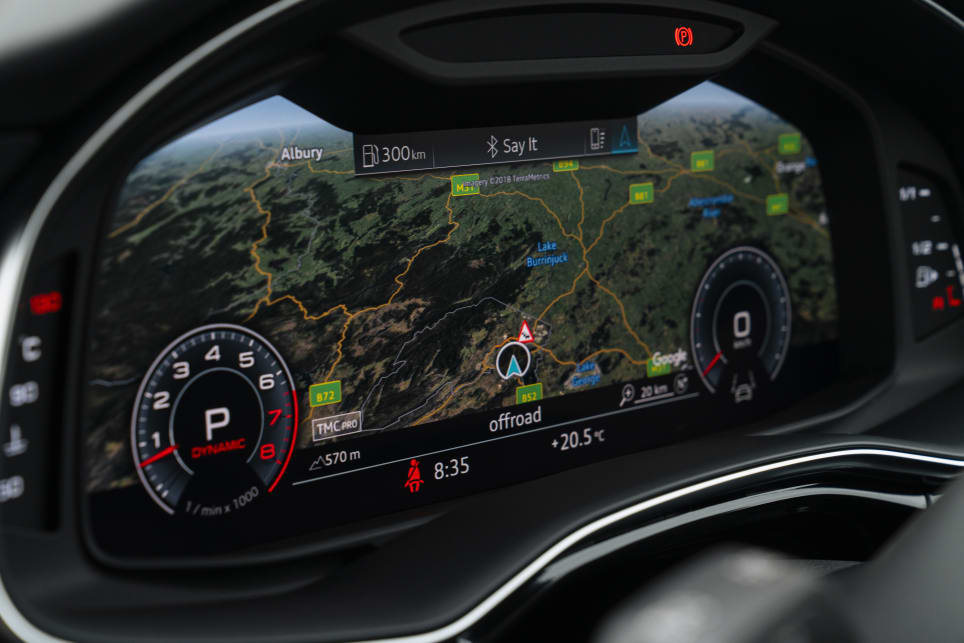 Audi's 12.3-inch 'Virtual Cockpit' instrument cluster comes in as standard.