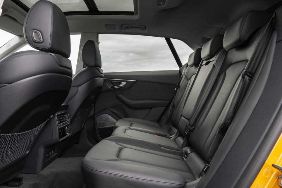 There's enough headroom in the rear seat to be comfortable with a similarly sized driver in front, and the legroom and foot room is well considered, too.