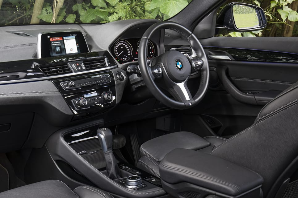 The BMW X2 has a high-quality interior.